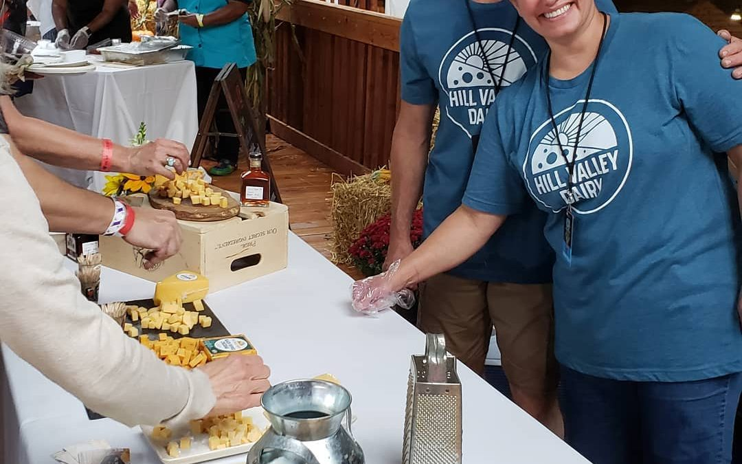 We were at the 2019 FarmAid featuring our cheeses made from our family milk.
