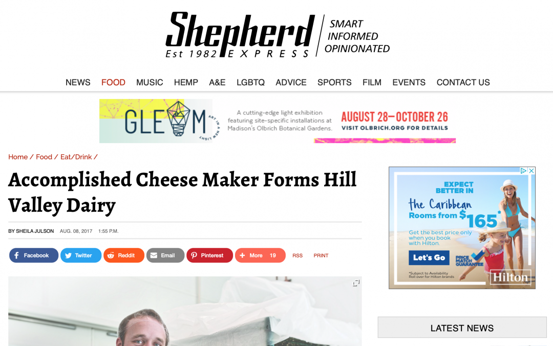 Shepard Express Features Hill Valley Dairy's Opening