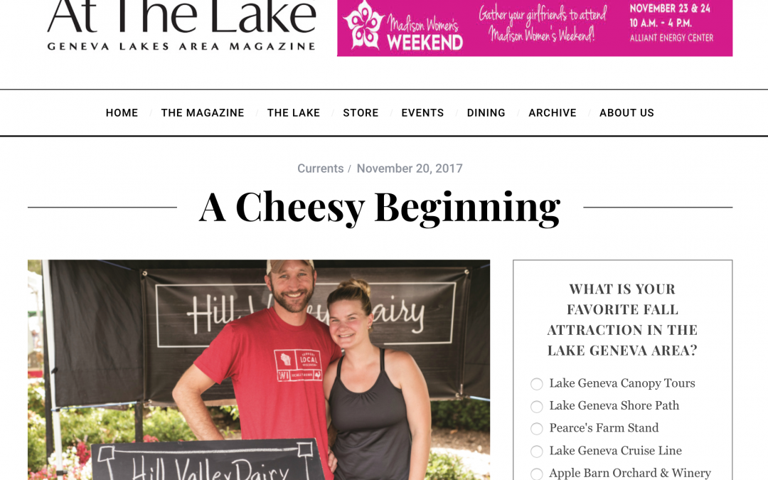 Local Lake Geneva Magazine Features Hill Valley Dairy