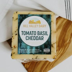 Hill Valley Dairy cheese cheddar tomato basil
